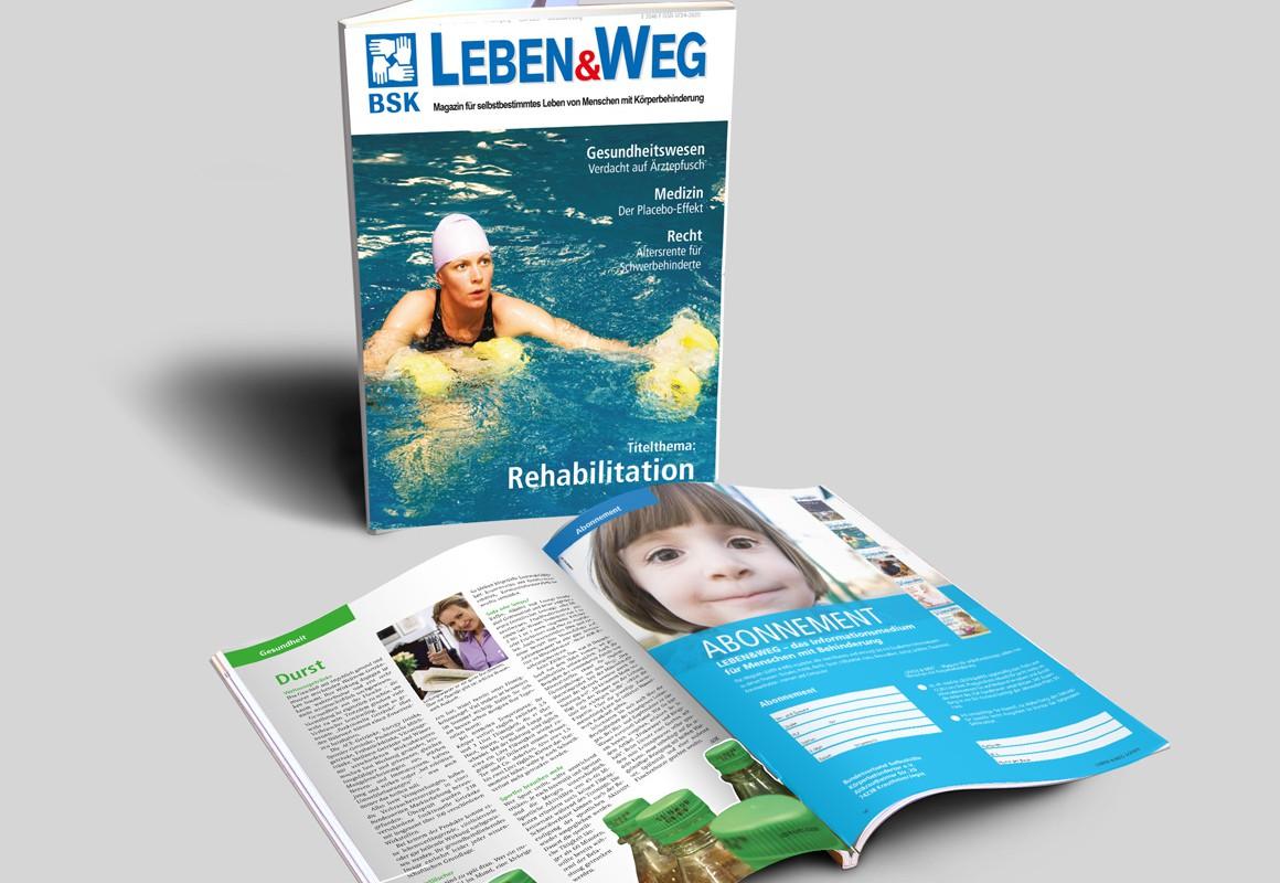 Kundenmagazin, 68 Seiten für den Bundesverband Selbsthilfe Körperbehinderter e.V.