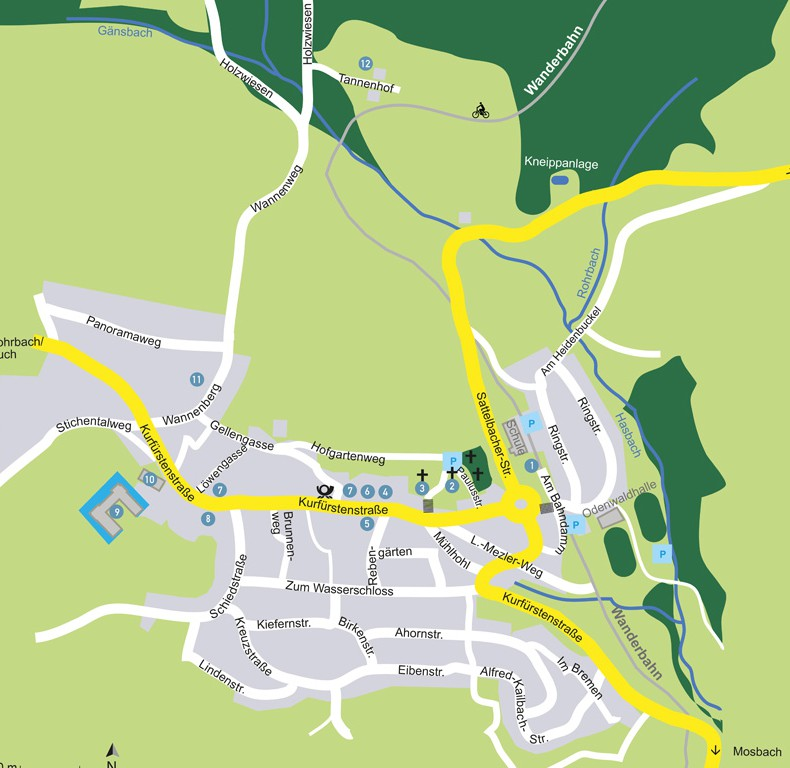 Stadtplan von Lohrbach